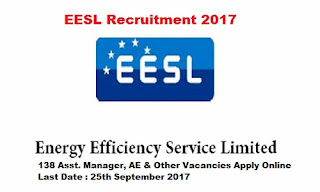 EESL Recruitment 2017