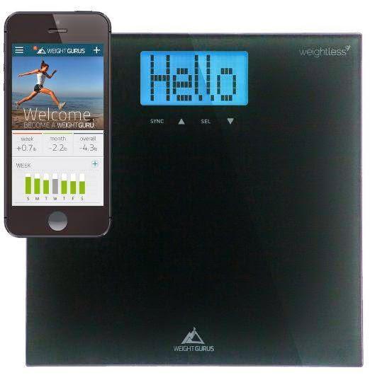 Weight Gurus Smartphone Connected Digital Bathroom Scale