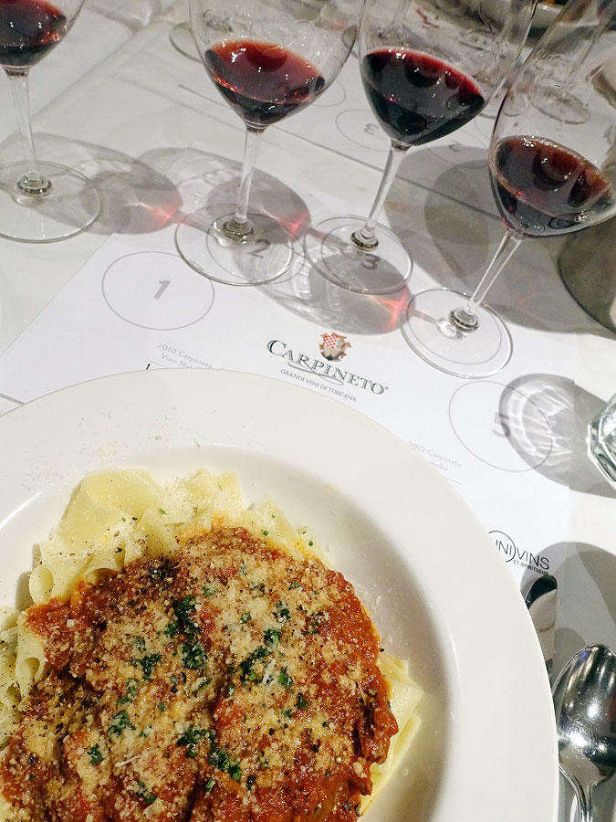 Pappardelle with Lamb paired with Carpineto Wines