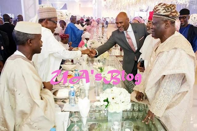 President Buhari, top dignitaries attend Osinbajo's daughter's wedding in Abuja