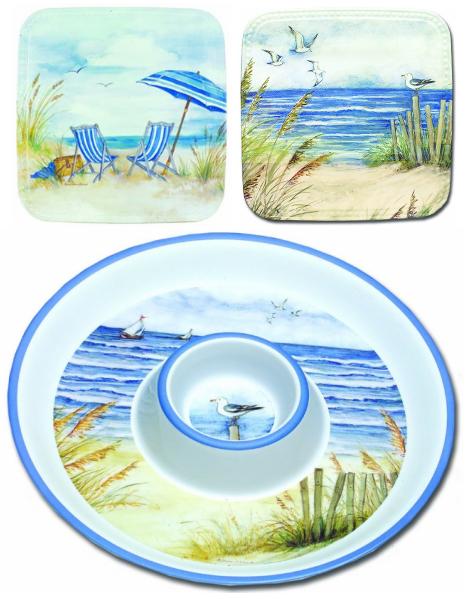 Coastal Amp Nautical Melamine Plates Amp Dinnerware For