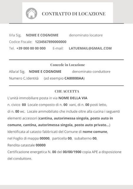 contratto affitto breve modello pdf