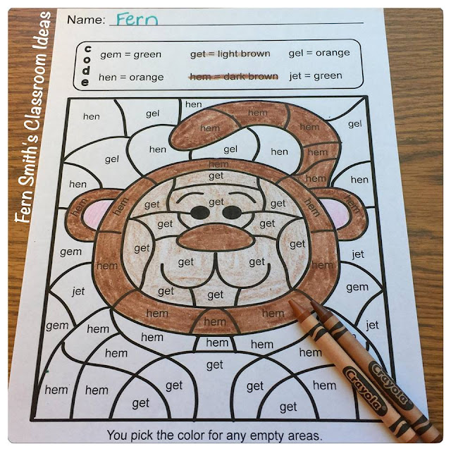 Your students will adore these five Short e Words Color Your Answers worksheets while learning and reviewing important vowel and reading skills at the same time! You will love the no prep, print and go Color By Code Worksheets with Answer Keys Included.