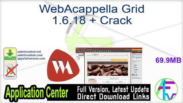 WebAcappella Grid 1.6.18 + Crack