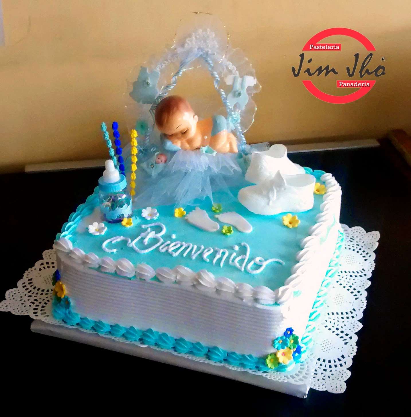 Tres Leches Baby Shower Cake
