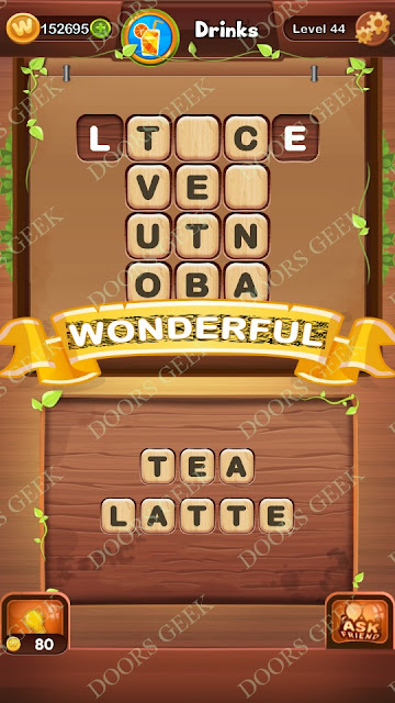 Word Bright Level 44 Answers, Cheats, Solutions, Walkthrough for android, iphone, ipad and ipod