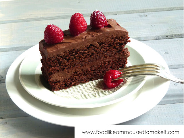 Remarkable Easy Eggless Chocolate Cake Recipe Food Like Amma Used To Make It Personalised Birthday Cards Arneslily Jamesorg