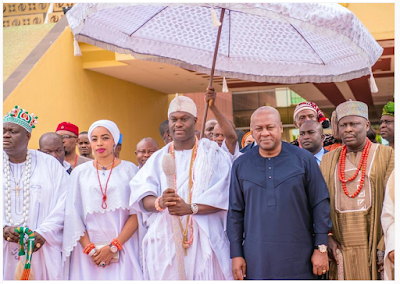 Ooni Of Ife And Wife Pictured With The President Of Ghana, John Mahama