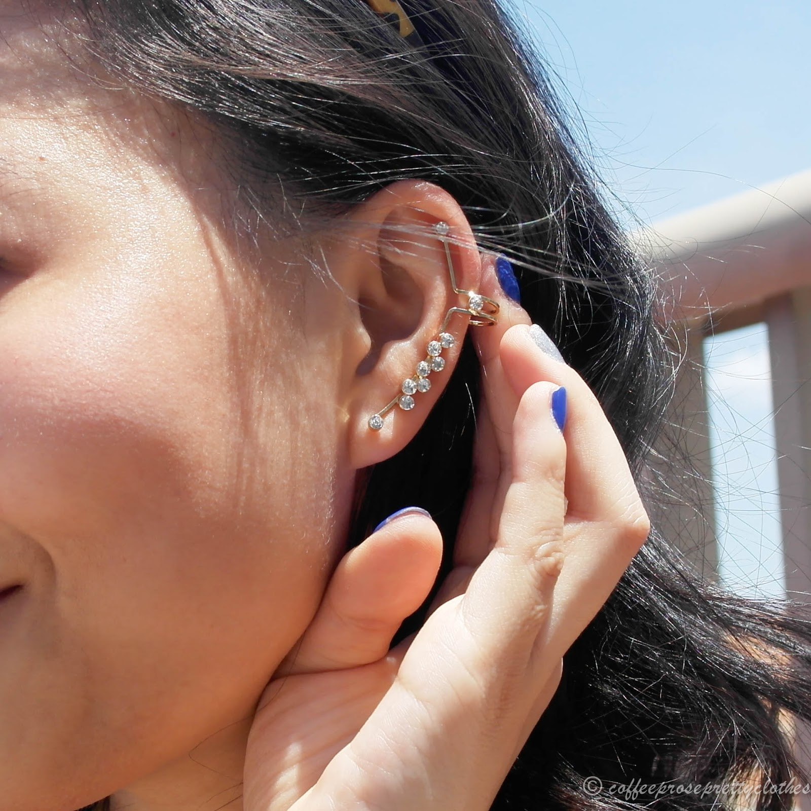 cuff and wrap earrings
