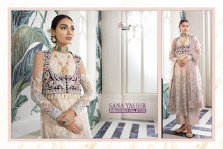 Shree Fab Sana Yashir Georgette Pakistani Suits Collection