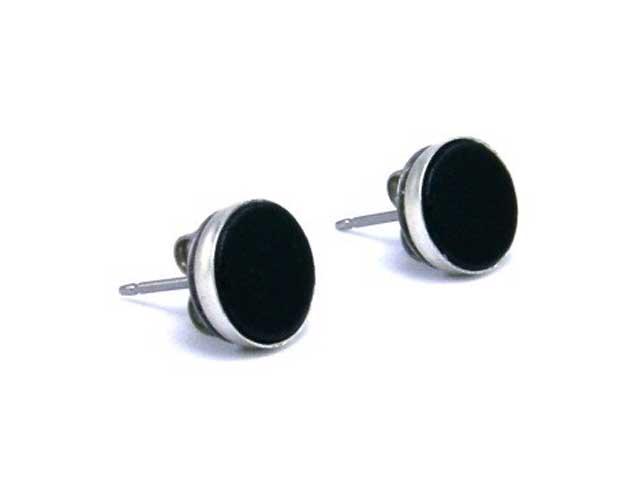 black earrings for men