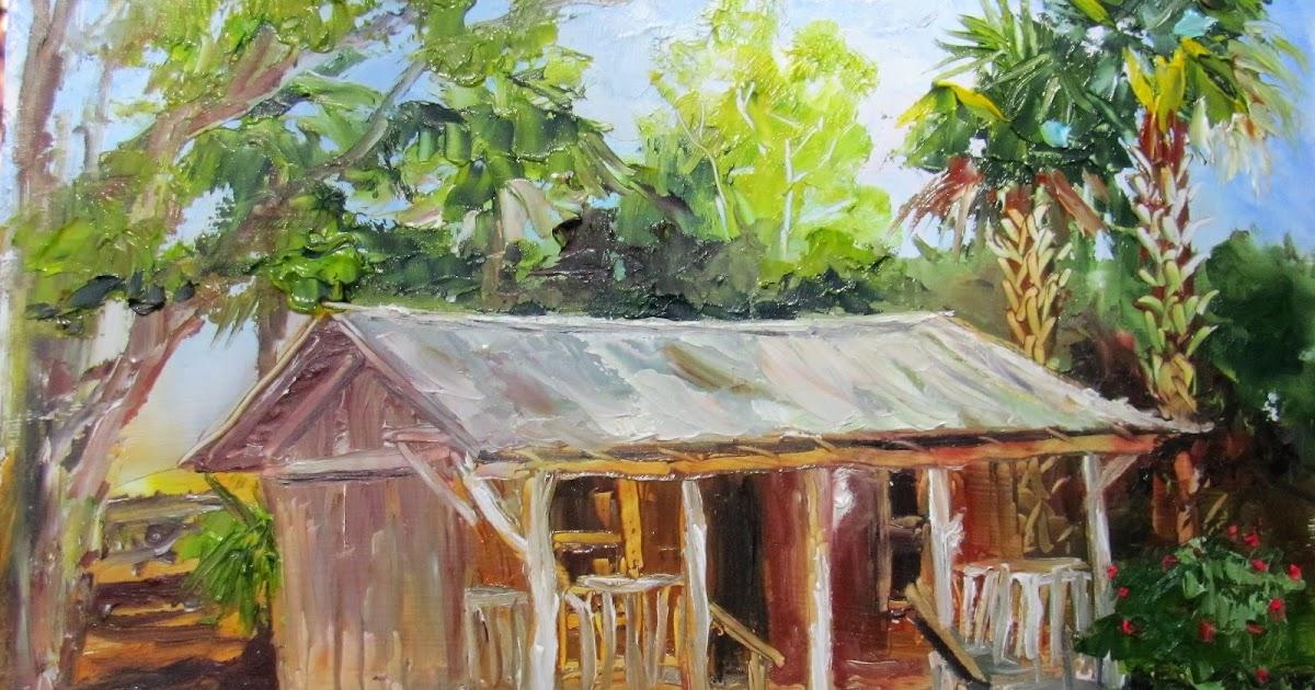Heathcote Botanical Gardens: Lori's Stormy Art And Daily Paintings: 1681 Pioneer House