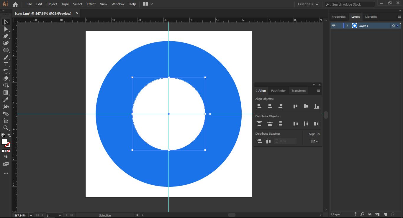 Tahap 3: Membuat Lingkaran Jam