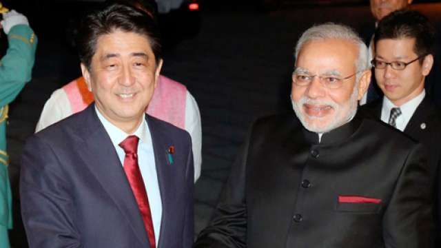 Prime Minister Narendra Modi on Monday congratulated his Japanese counterpart Shinzo Abe on his re-election victory