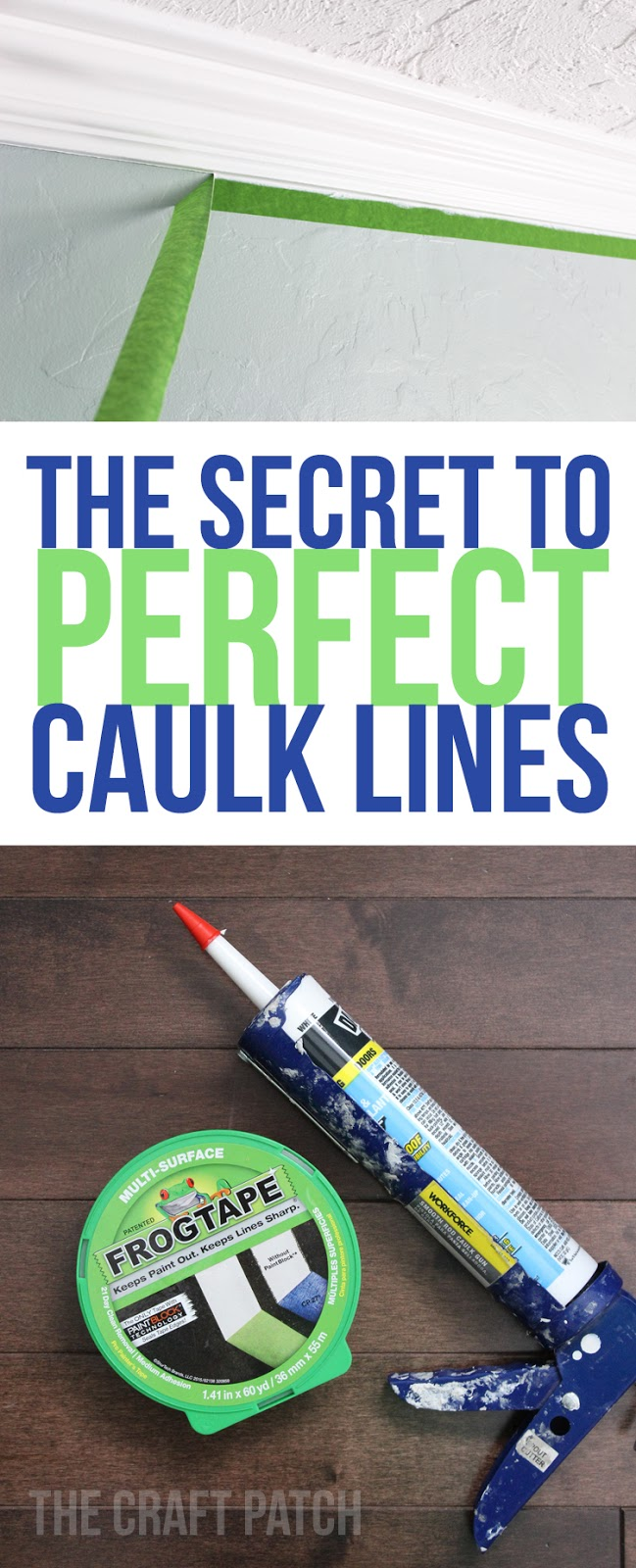 The Trick to Perfect, Crisp Caulk Lines - thecraftpatchblog com