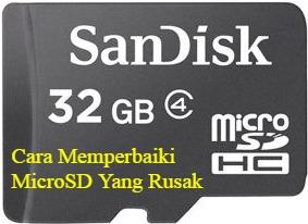 Panduan tips kali ini dari saya mengenai  Cara Memperbaiki MicroSD Yang Rusak dan Penyebabnya