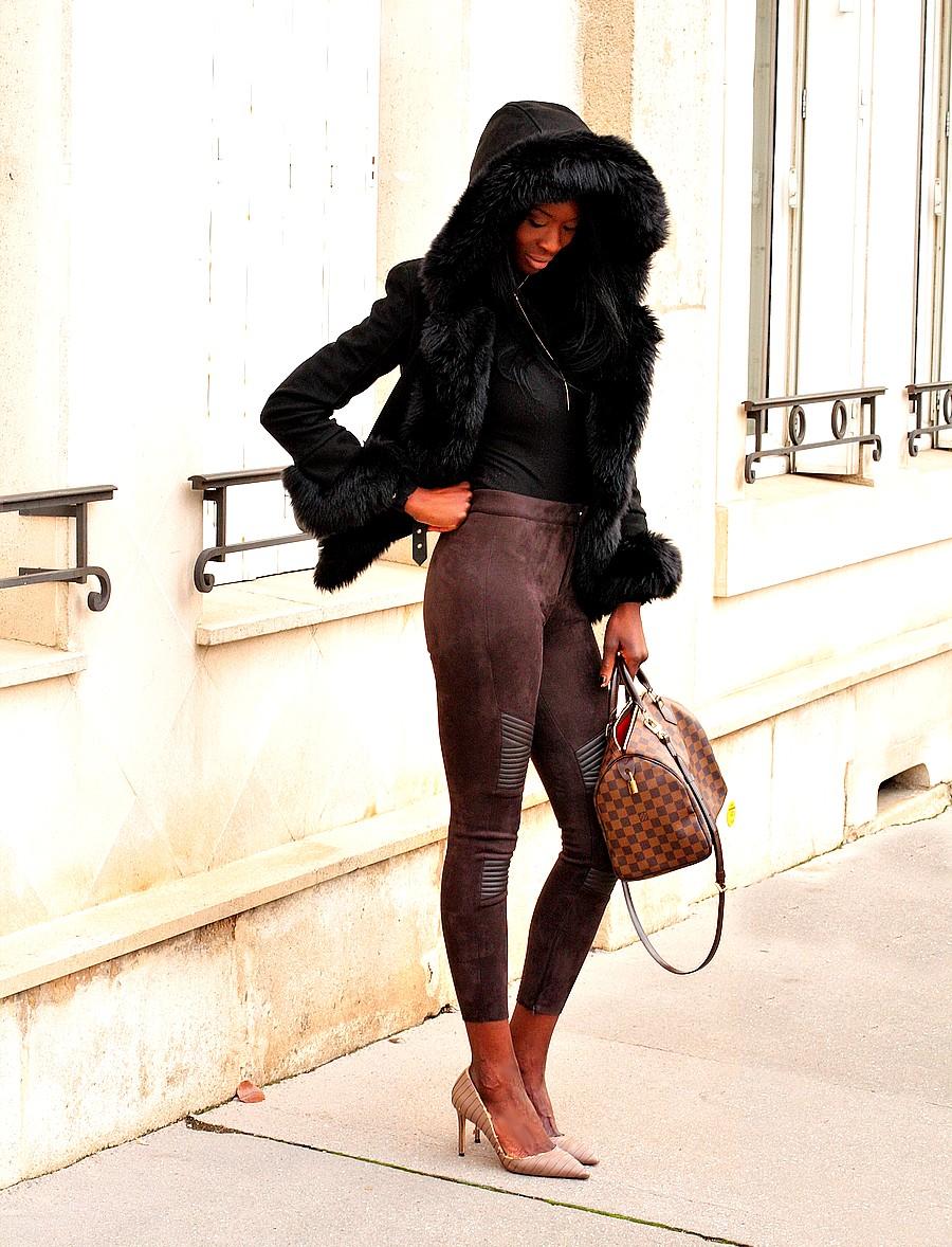 inspiration-tenue-hiver-manteau-fourrure-capuche-pantalon-taille-haute-sac-louis-vuitton