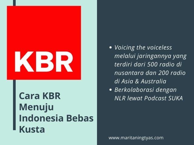 cara KBR dukung bebas kusta