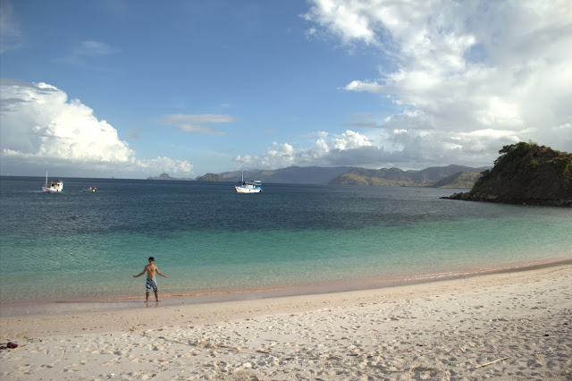 keindahan pink beach di pulau komodo