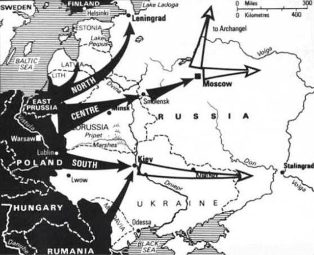 Operation Barbarossa map 22 June 1941 worldwartwo.filminspector.com