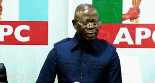 Adams Oshiomhole holds a prayer session with the APC members begging God to help them defeat  Obaseki in  Edo State re-election