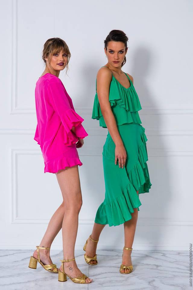 Moda primavera verano 2018 ropa de mujer. Vestidos verano 2018.