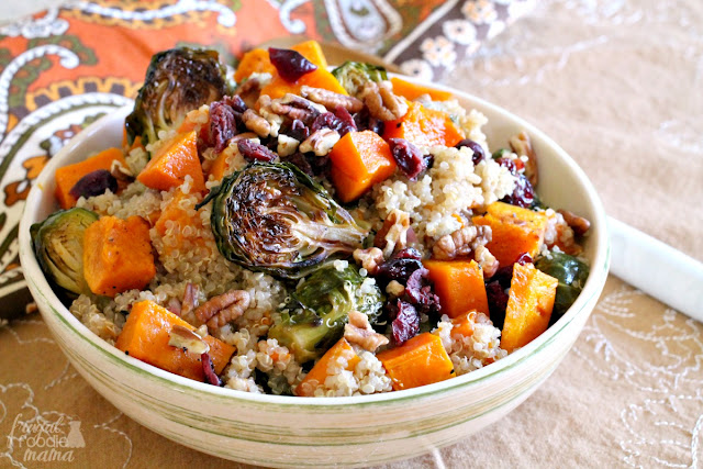 Roasted Butternut Squash & Brussel Sprouts Quinoa Salad