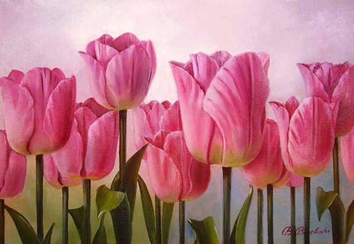 Акварельные рисунки цветов. Валентина Валевская 21