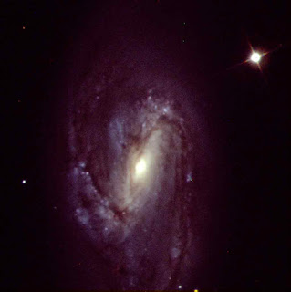 Image of Color Image of M66 created using Adobe Photoshop