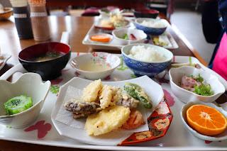 Japanese food on Bike trip to Hiroshima