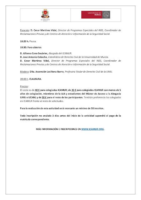 Jornadas sobre La Ley 7/2018, de 3 de julio, de Parejas de Hecho de la Región de Murcia