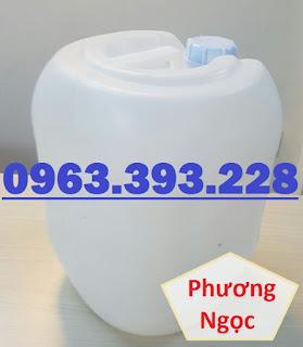 Can nhựa 20L vuông tròn, can nhựa đựng hóa chất, can màu trắng 20L Ba7e57b110dcf782aecd