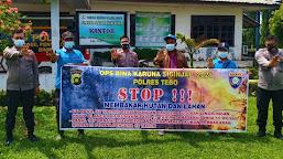 Rawan Kebakaran, Tim Polres Tebo Sambangi PT. TPIL