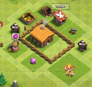 Cercar CV com muros no Clash of Clans