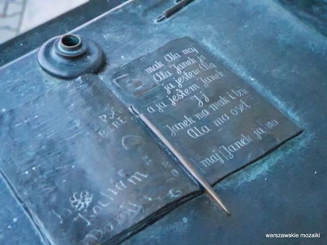 Warszawa Warsaw pomniki rzeźba Wybrzeże Kościuszkowskie Wojciech Gryniewicz brąz Powiśle nauka znp