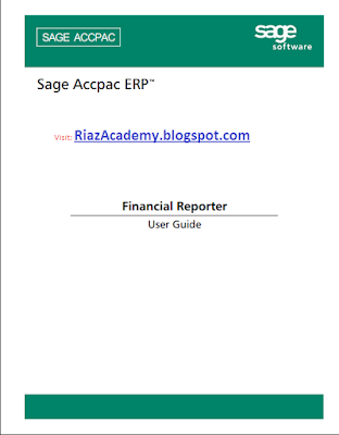 SAGE ACCPAC ERP USER GUIDE E-BOOK FREE DOWNLOAD