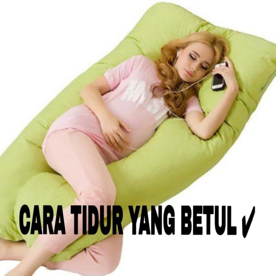posisi tidur ibu mengandung yang betul