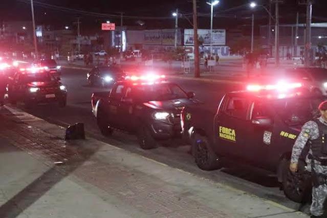 NA BARREIRA: Batalhão de Choque e Força Nacional prendem apenado armado