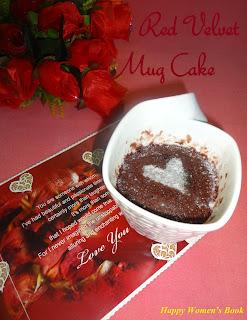 2mins-Red Velvet Mug Cake