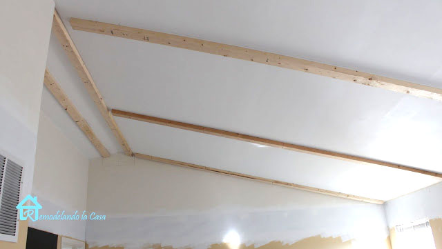 How to install faux wooden beams