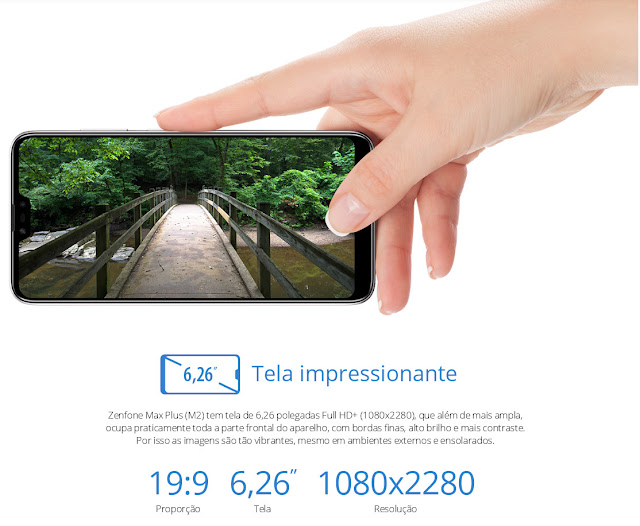 ASUS Zenfone Max Plus M2 Tela Grande