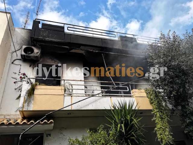 Πυρκαγιά σε διαμέρισμα στο Ίλιον (PHOTO)