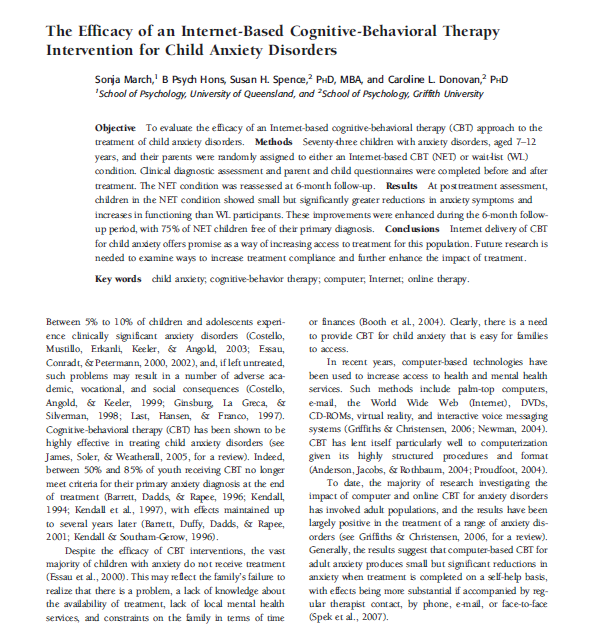 cognitive behavioral intervention approach spe 357 422 evaluating treatment efficacy for obsessive particularly for spe- cific phobias and outcome rather than cognitive and behavioral.