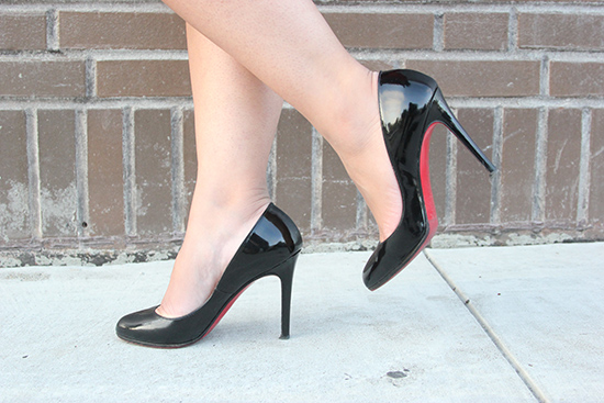 Christian Louboutin Black Patent Heels