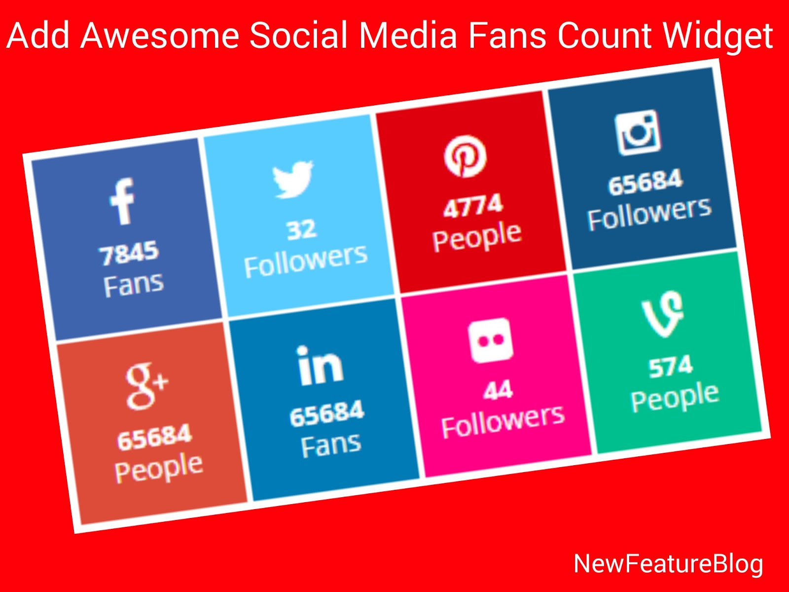 Add awesome social media counter widget in blog newfeatureblog