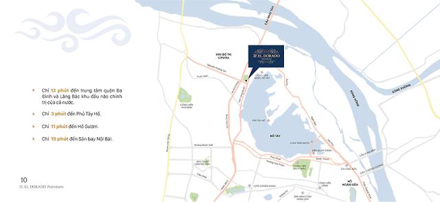 Vị trí dự án chung cư D' El Dorado Phú Thượng - Tân Hoàng Minh