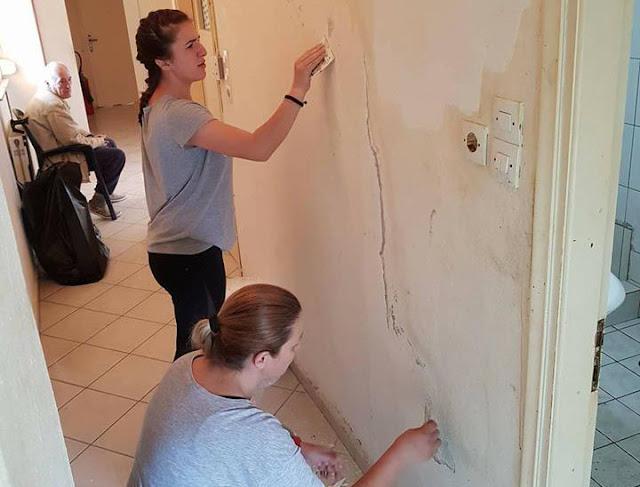 """Θεσπρωτία: Σπουδαστές/τριες του ΙΕΚ Φιλιατών έβαψαν χώρους του """"Ψυχαργώ""""!"""