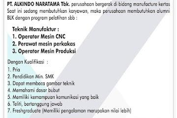 Lowongan Kerja Bandung Karyawan Alkindo Naratama