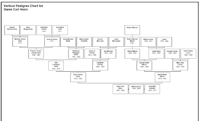 Climbing My Family Tree: Vertical Pedigree Chart for Owen Carl Henn (1906-1988)