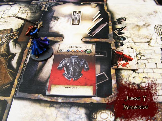 Una imagen de la miniatura de Nelly del juego Zombicide Black Plague